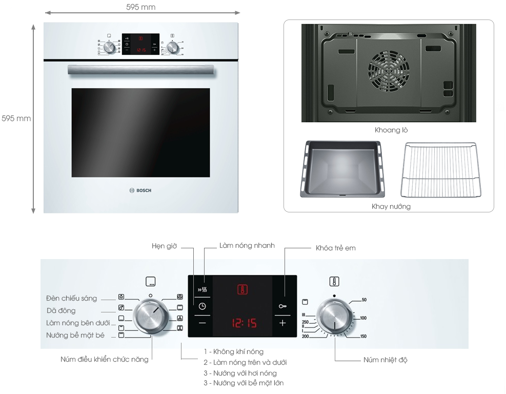 Chi tiết sản phẩm Lò Nướng Bosch HBA43S320E