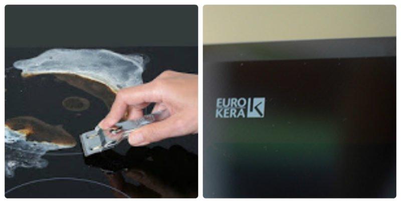 Mặt kính Eurokera made in France mài vát cạnh 8 mm