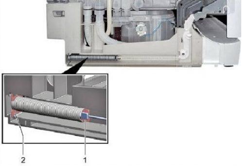 Lắp ráp lò xo cửa trong máy rửa chén Bosch