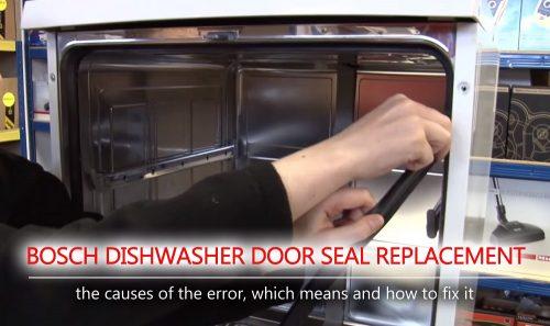 Thay thế con dấu cửa máy rửa bát Bosch