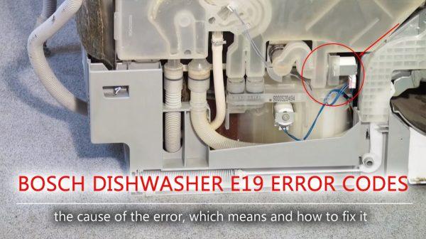 Mã lỗi máy rửa chén Bosch e19