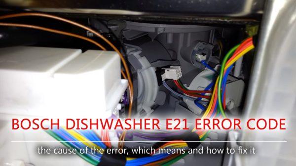 Mã lỗi máy rửa chén Bosch e21