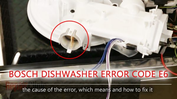 Mã lỗi máy rửa chén Bosch e6