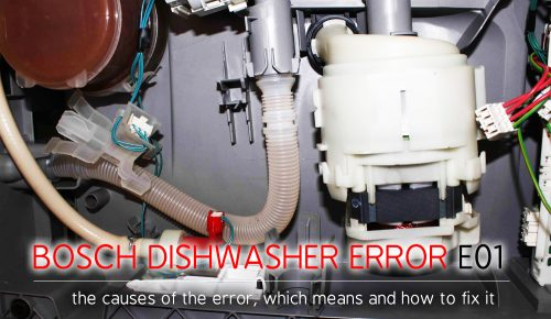 Mã lỗi máy rửa chén Bosch e01