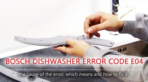 Mã lỗi máy rửa chén Bosch e04