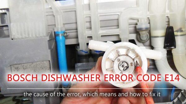 Mã lỗi máy rửa chén Bosch e14