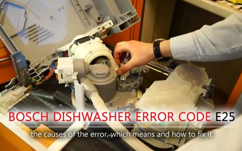 Mã lỗi máy rửa chén Bosch e25