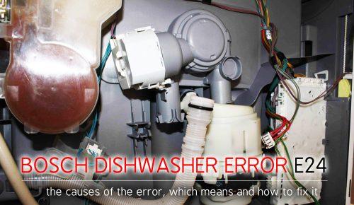 Lỗi máy rửa chén Bosch e24