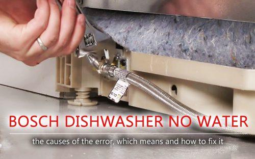 Máy rửa chén Bosch không có nước