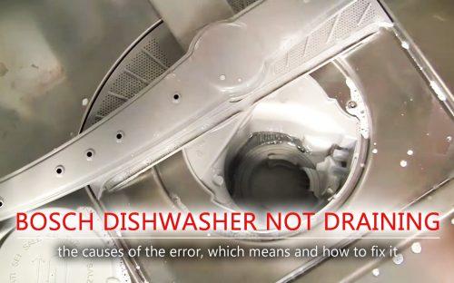 Máy rửa chén Bosch không thoát nước