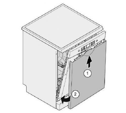 Loại bỏ cánh cửa bên ngoài trong máy rửa chén Bosch