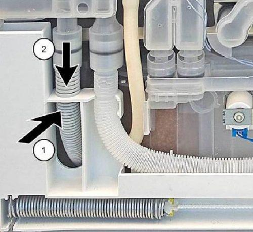 Thay ống thoát nước trong máy rửa chén Bosch