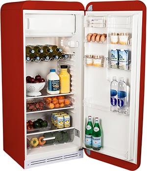 Tủ lạnh màu đỏ