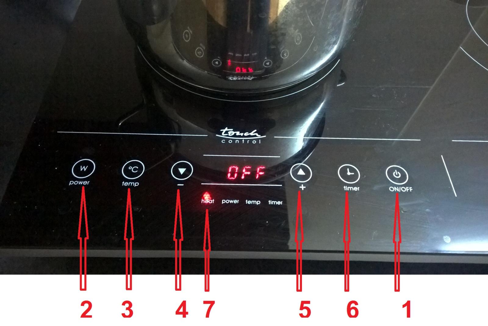 Phím cảm ứng bếp từ Rommelsbacher CT 3410/IN
