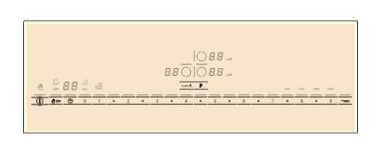 bảng điều khiển bếp từ bosch