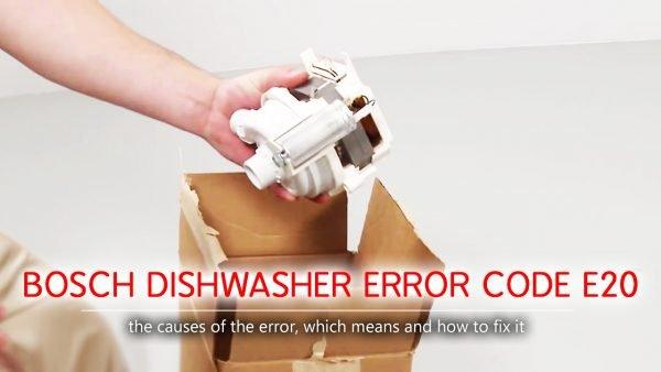 Mã lỗi máy rửa chén của Bosch e20