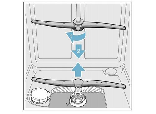 Vệ sinh các đầu bơm của tay phun nước trong máy rửa bát Bosch