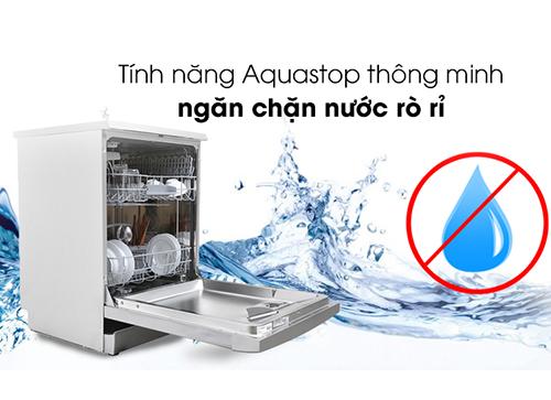 Hệ thống AquaStop được kích hoạt khiến van nước bị khóa và màn hình hiển thị mã lõi E15