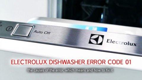 Mã lỗi máy rửa chén Electrolux 01