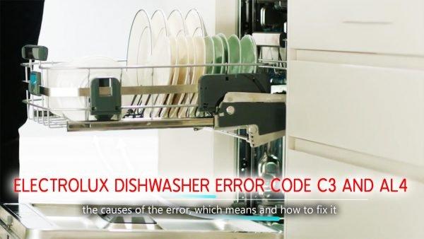 Mã lỗi máy rửa chén Electrolux mã C3 và AL4