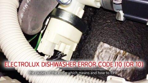 Mã lỗi máy rửa chén Electrolux i10 (hoặc 10)