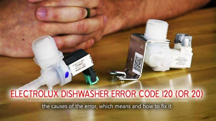 Mã lỗi máy rửa chén Electrolux i20 (hoặc 20)