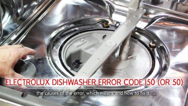 Mã lỗi máy rửa chén Electrolux i50 (hoặc 50)