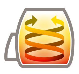 Thiết kế độc đáo cho phép nấu ăn ngon miệng và ít chất béo