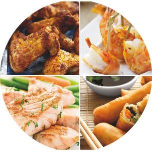 Món ăn ngon miệng: giòn bên ngoài và mềm bên trong